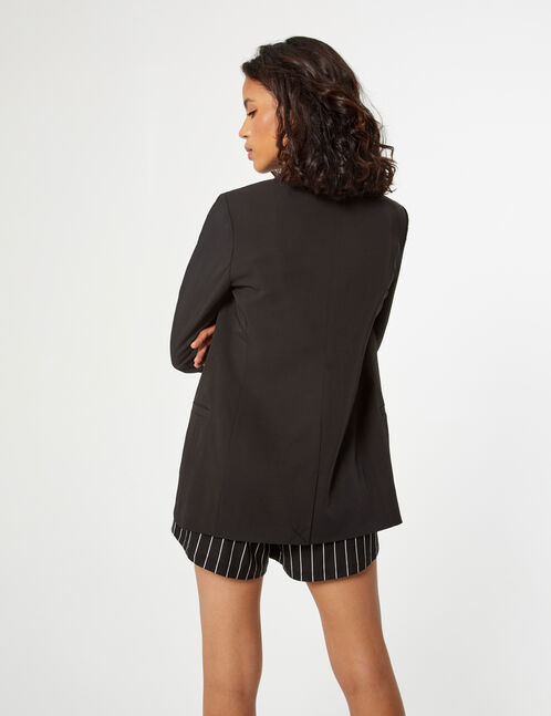 Blazer with 3/4-length sleeves