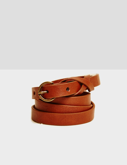 ceinture fine camel