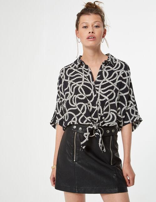 chemise à nouer noeud marin