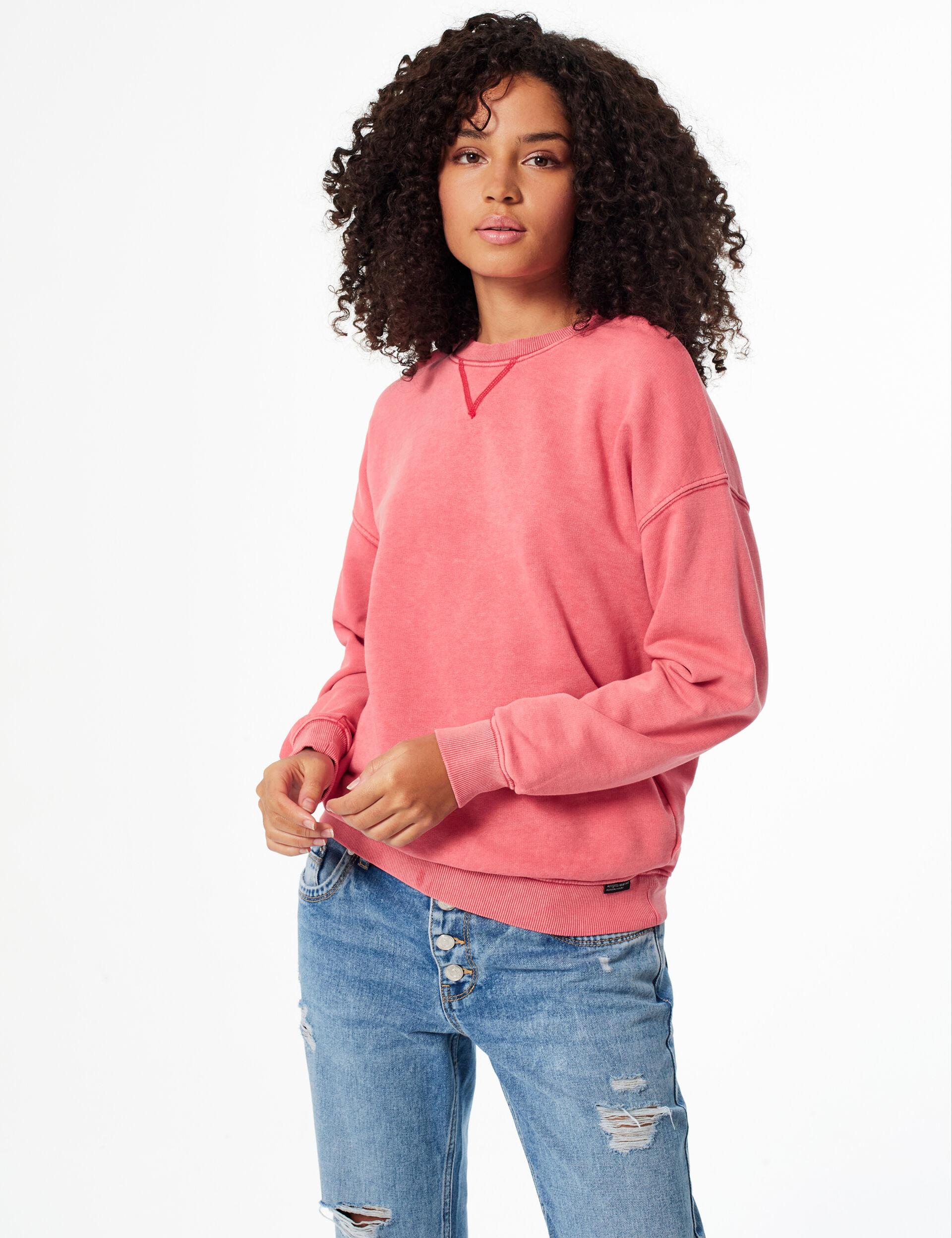 Sweatshirt with inserts