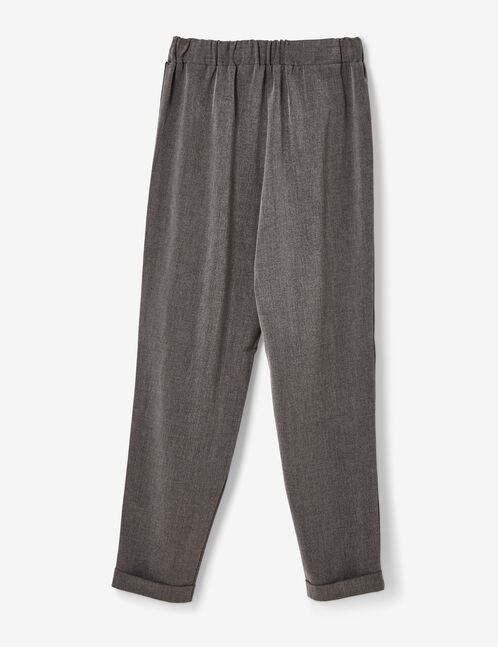 Charcoal grey tailored trousers with stripe detail
