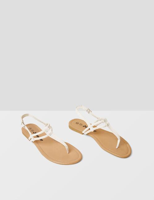 sandales à brides blanches