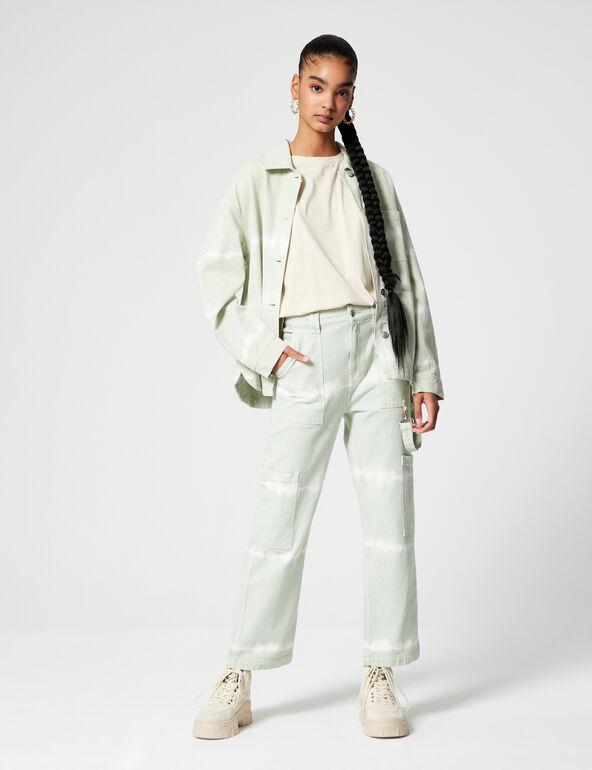 Pantalon cargo tie and dye