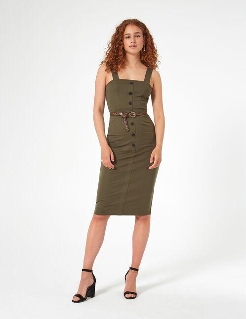 robe longue avec boutons