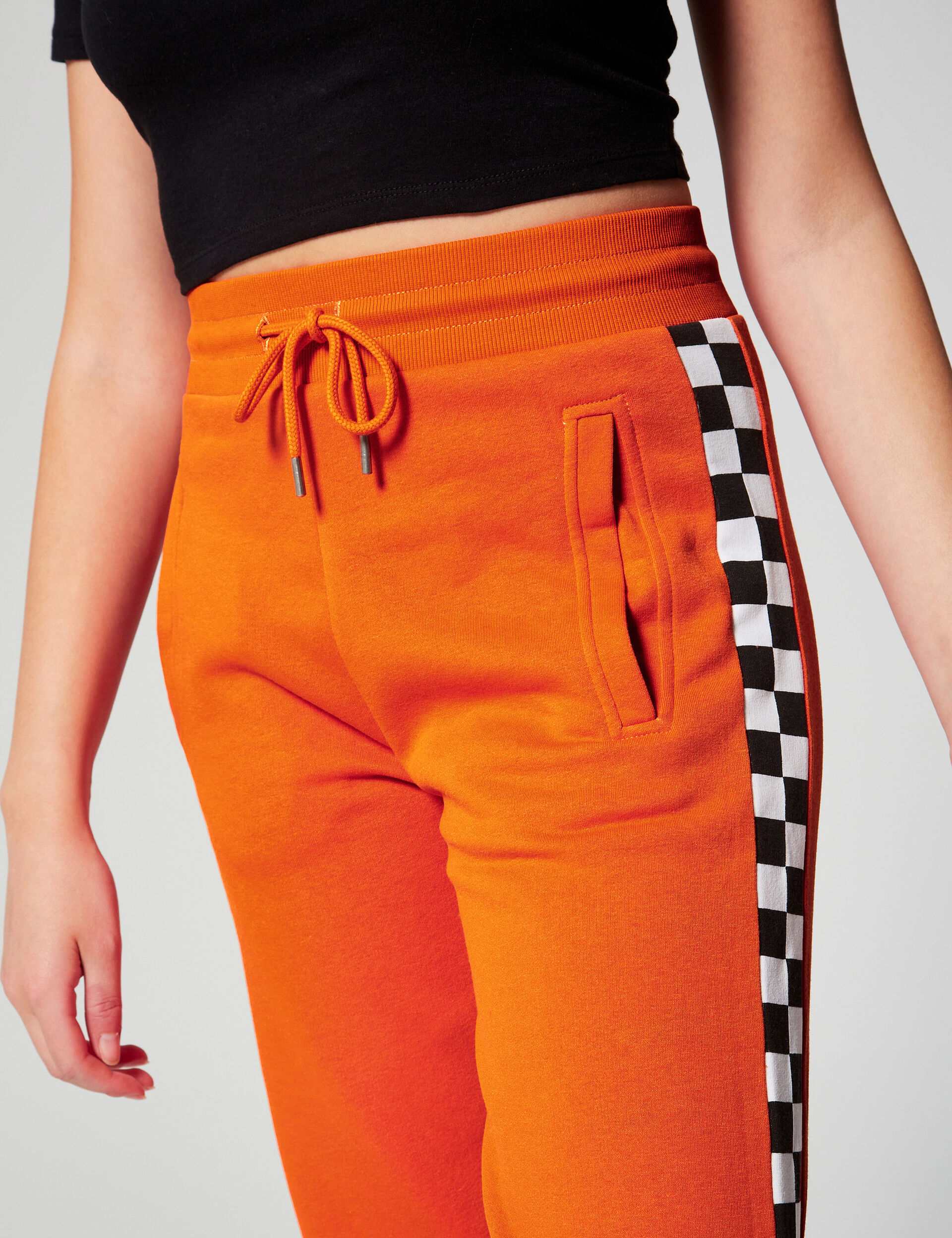 Joggers with stripe detail