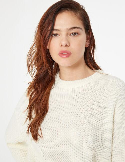 Loose-fit knit jumper