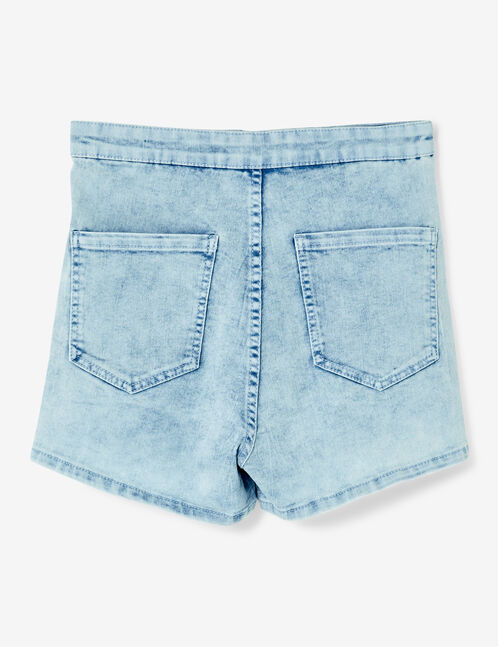 Bleached high-waisted shorts