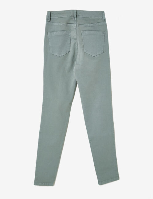 Sea green high-waisted ripped trousers