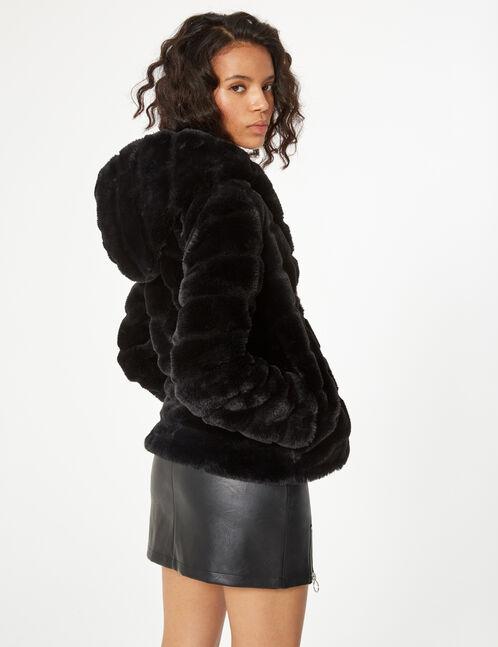 imitation fur jacket