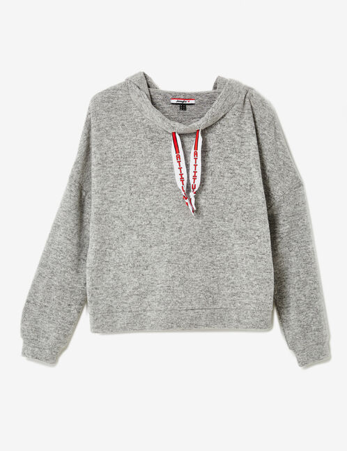 Grey marl hoodie
