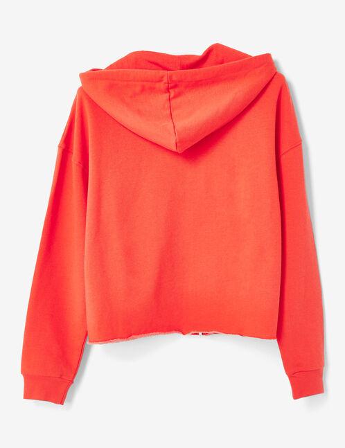 sweat zippé rouge