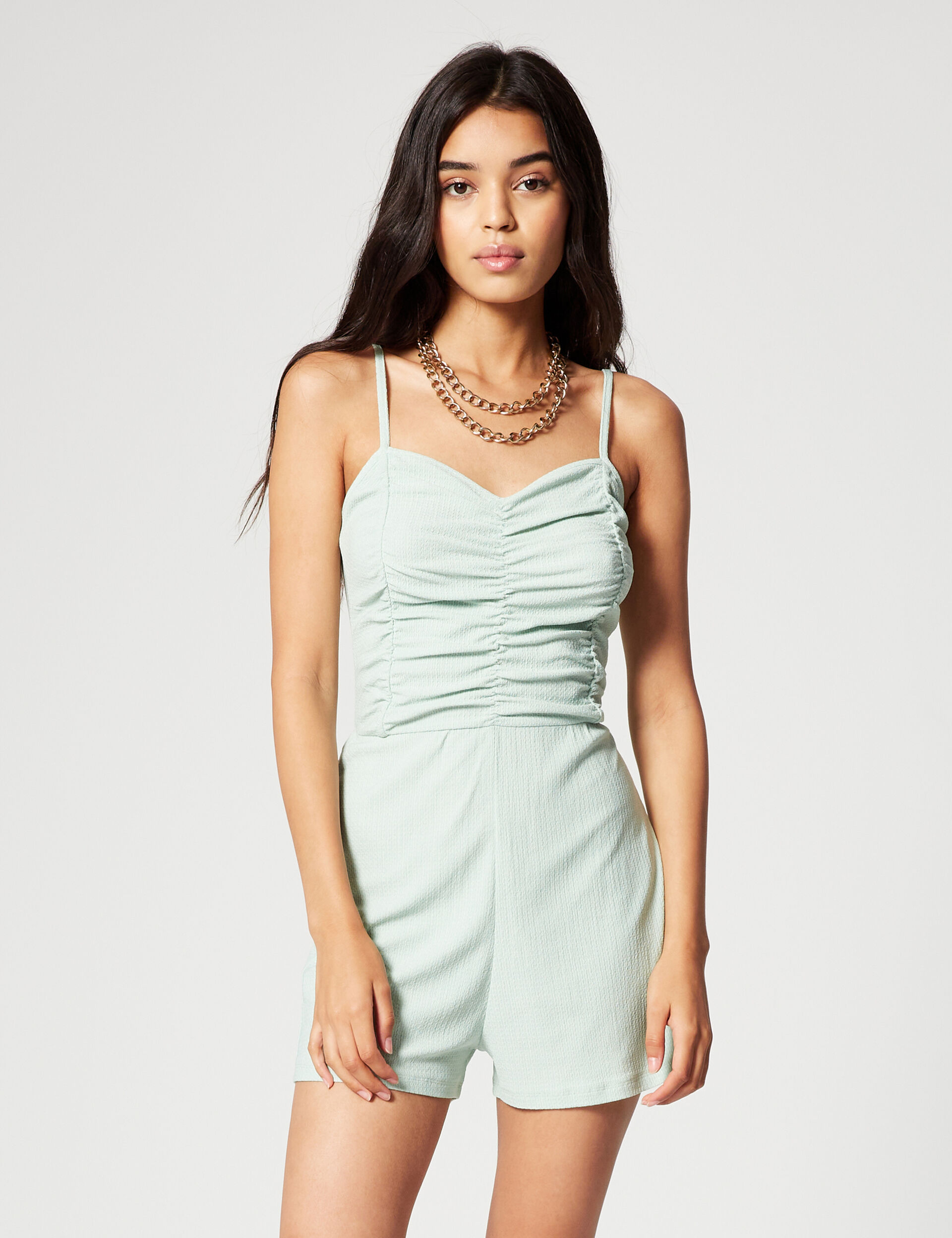 Ruched playsuit