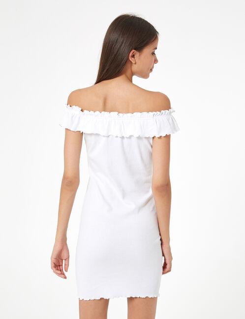 robe ajustée à volants