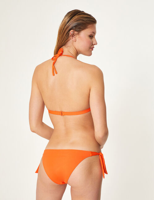Orange bikini set with frill detail