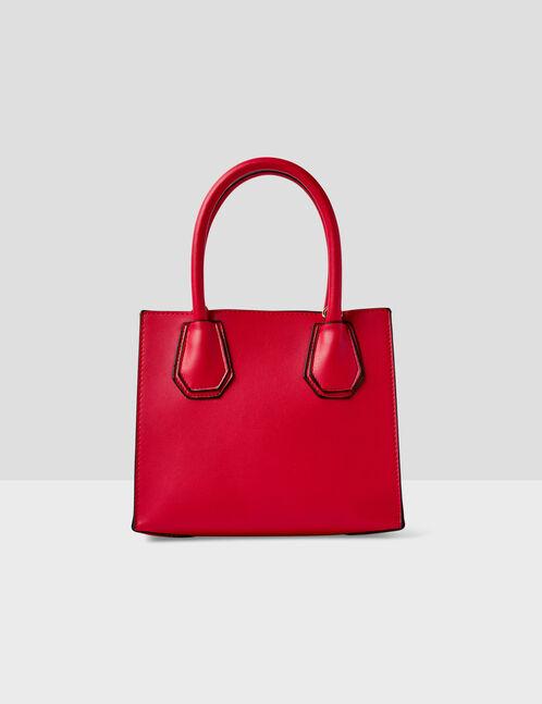 sac à mains avec clous rouge