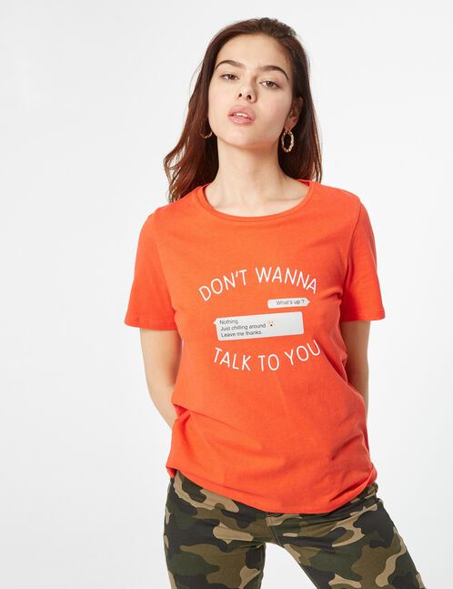 T-shirt with slogan