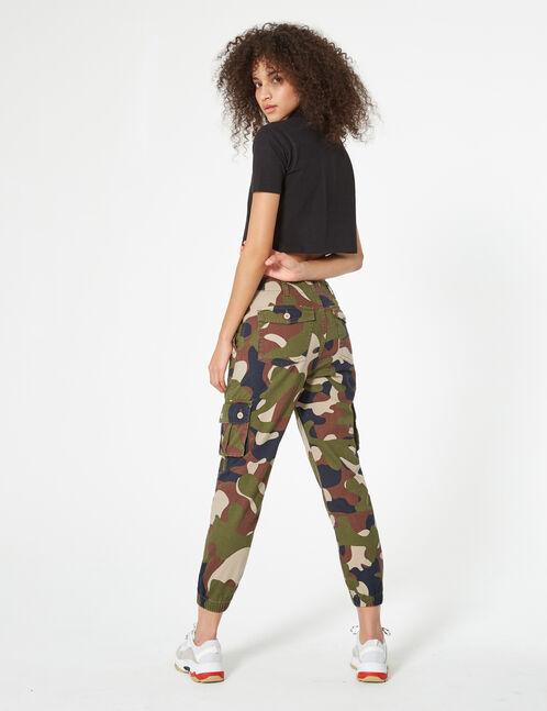 pantalon cargo camouflage kaki