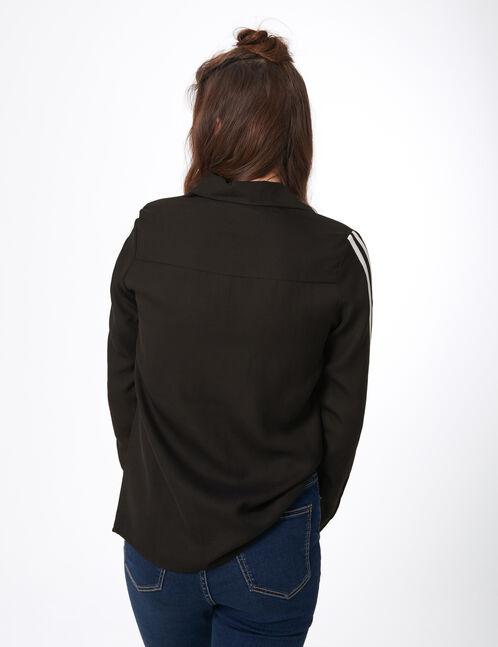 chemise avec bandes noire