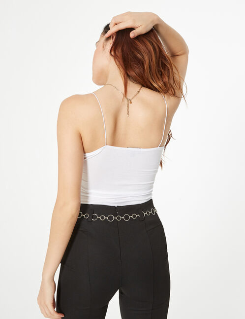 Camisole with pleated detail