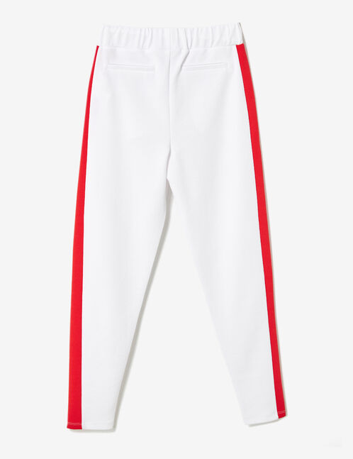 pantalon en crêpe blanc