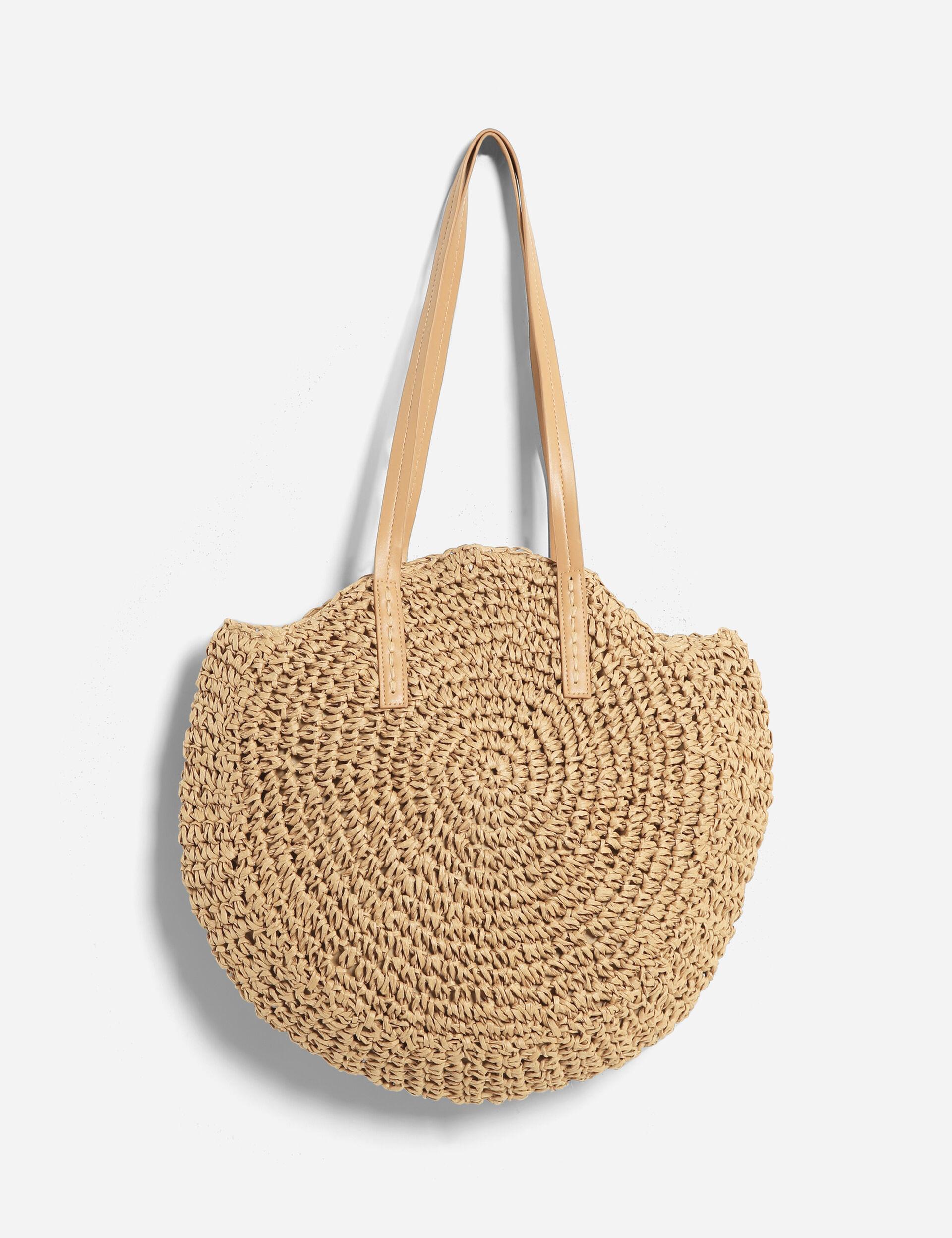 Round raffia bag