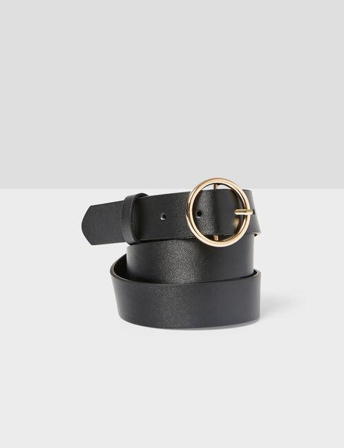 ceinture boucle ronde noire