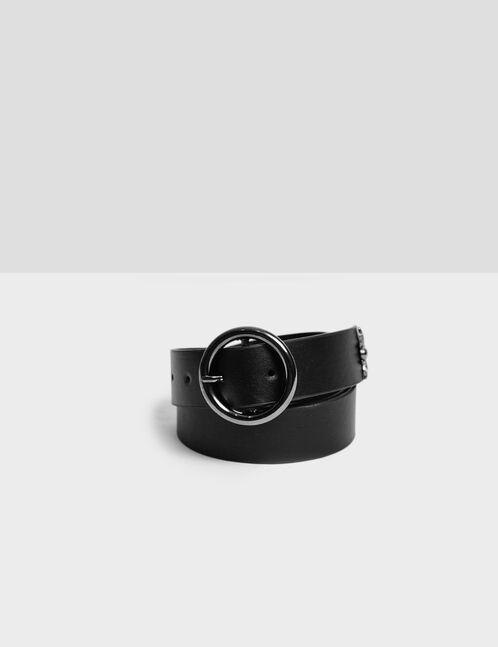 ceinture avec breloque noire