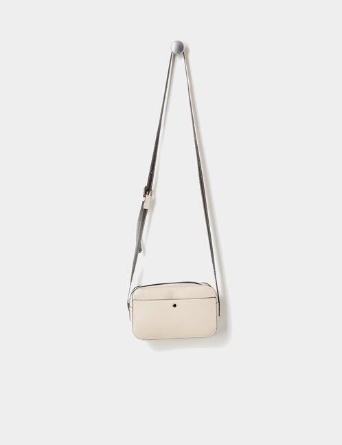 Small beige crossbody bag
