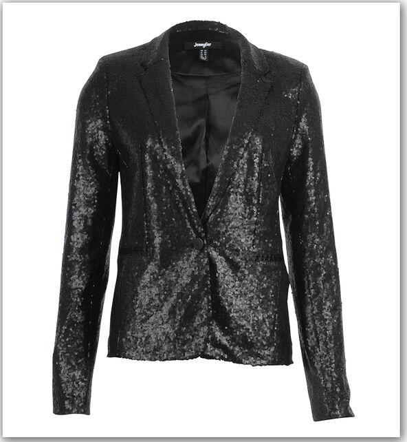 veste de tailleur en sequins noire