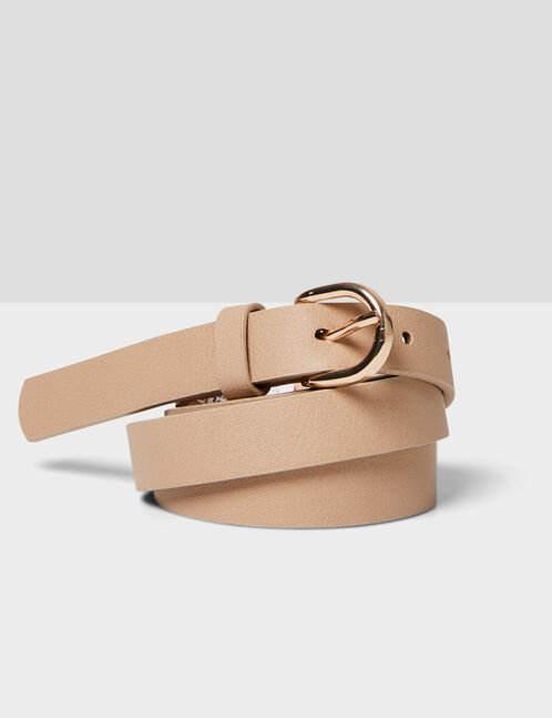 Nude skinny belt