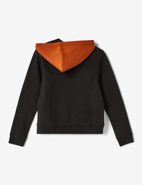 Black and camel hoodie