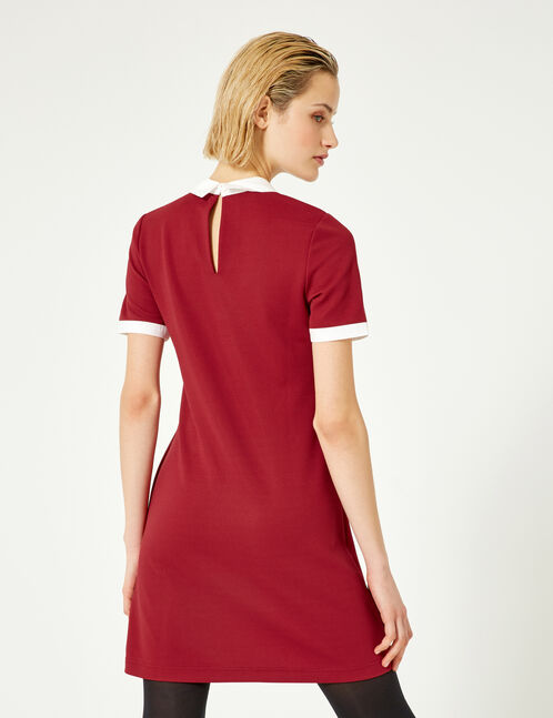 robe col blanc bordeaux