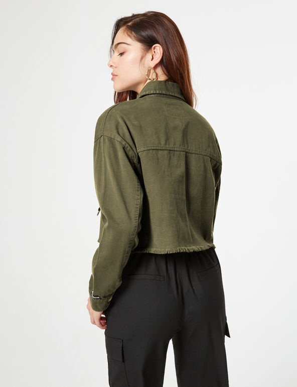 Veste courte à poches