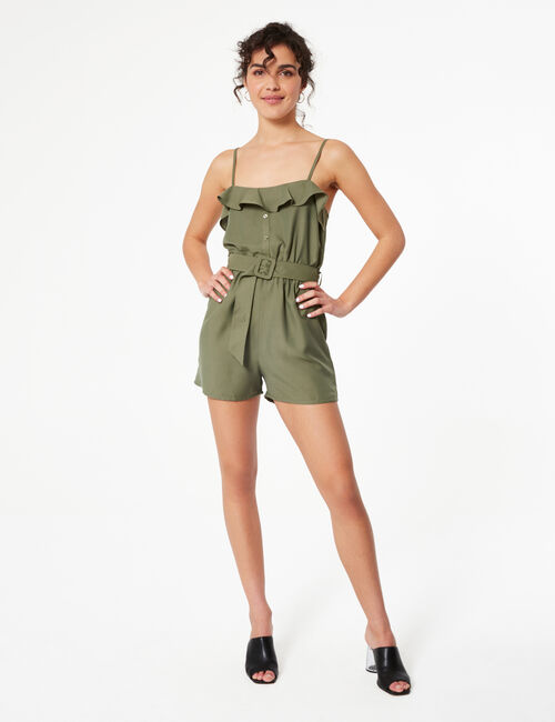 Playsuit with frill