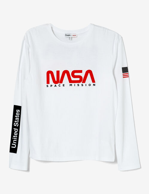 tee-shirt nasa blanc
