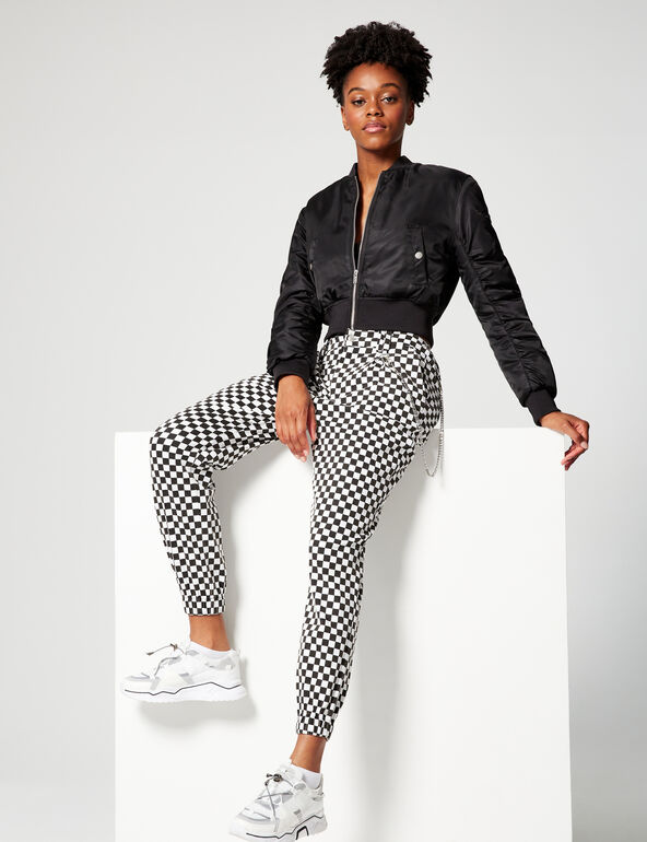 Printed cargo trousers