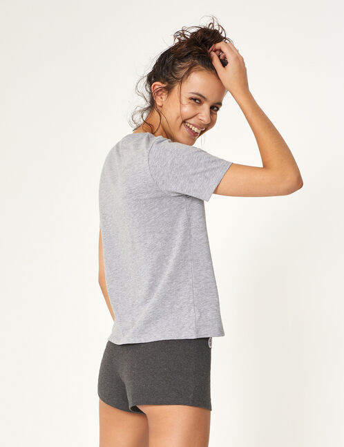 set pyjama gris anthracite et gris clair