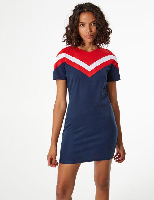 dress with chevron detail
