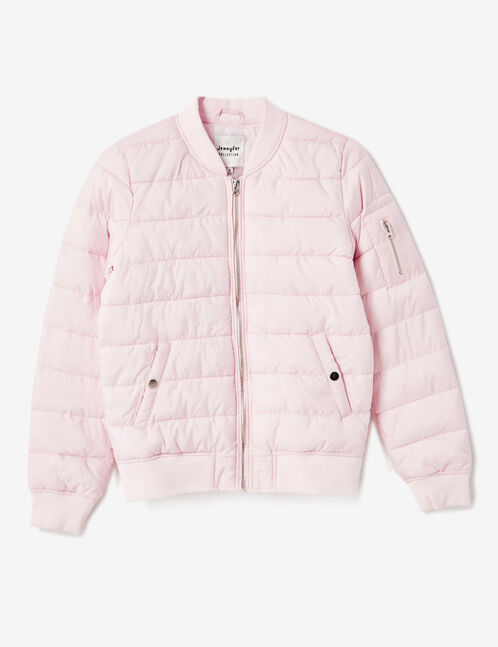 doudoune légère rose clair