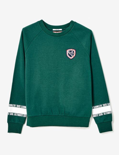 """Green """"ultimate girl"""" sweatshirt"""