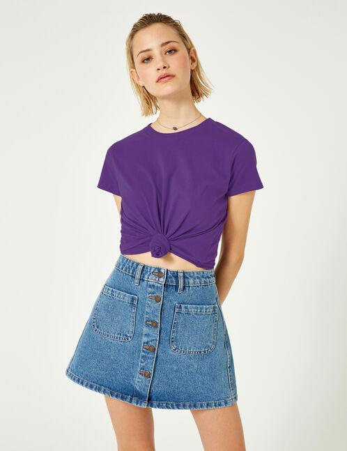 Basic purple T-shirt