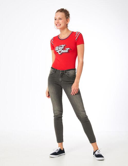 Grey push-up skinny jeans
