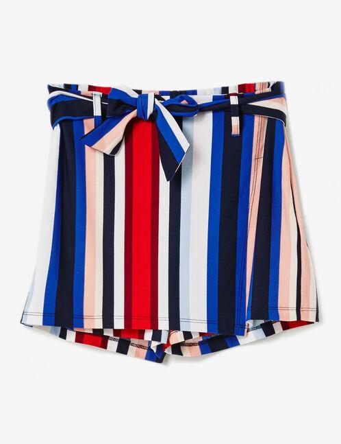 Multicoloured striped skort