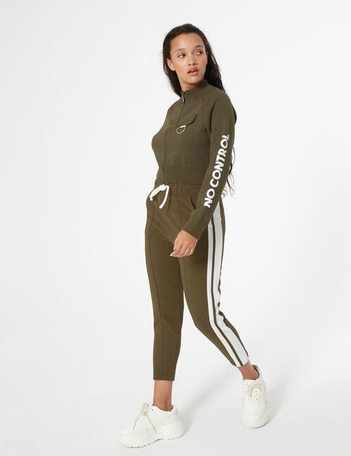 striped joggers