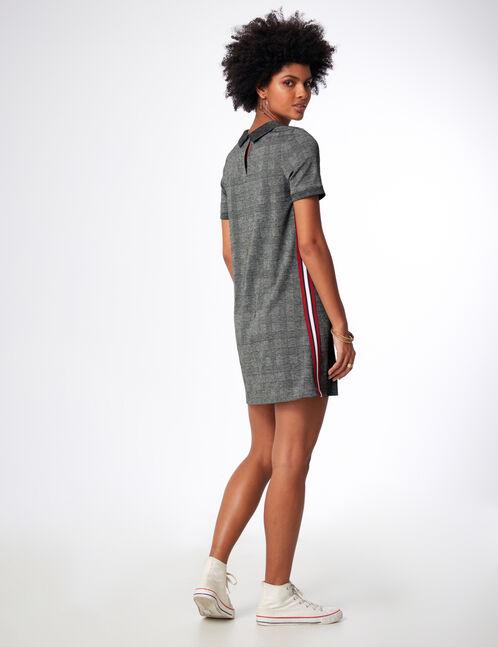 robe avec bandes côtés noire et grise