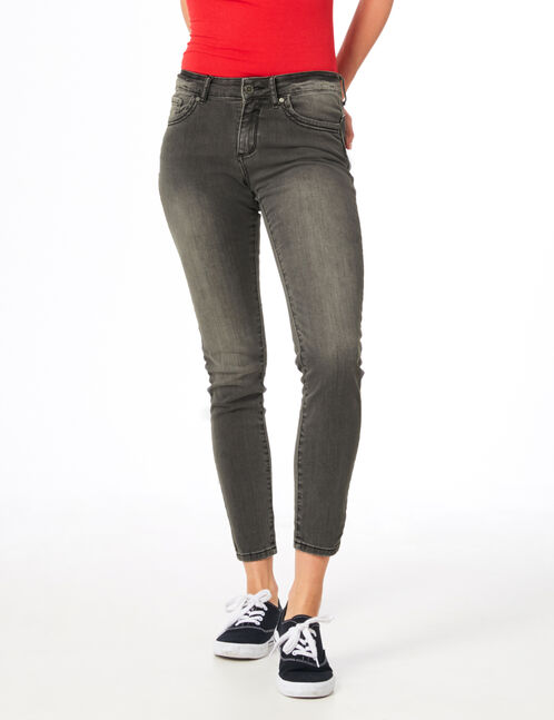 jean skinny push-up gris