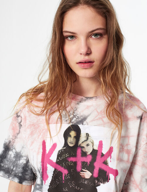 Tee-shirt tie and dye Kendall + kylie