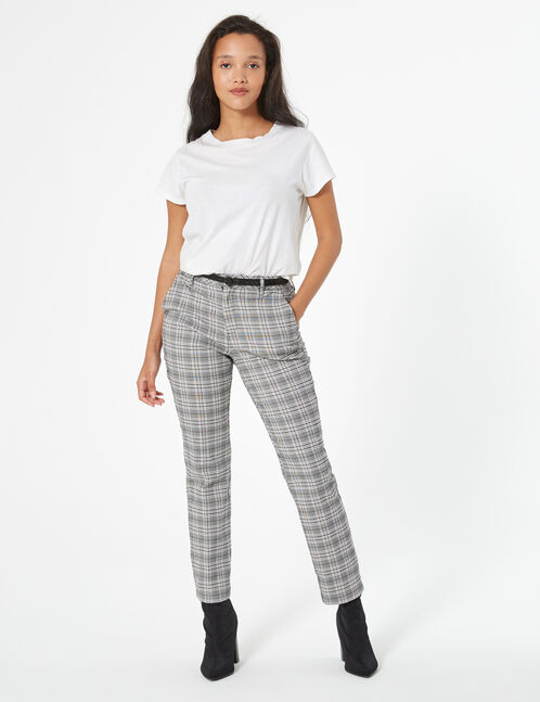 Checked dress pants