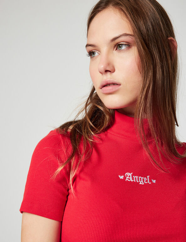 Angel ribbed T-shirt