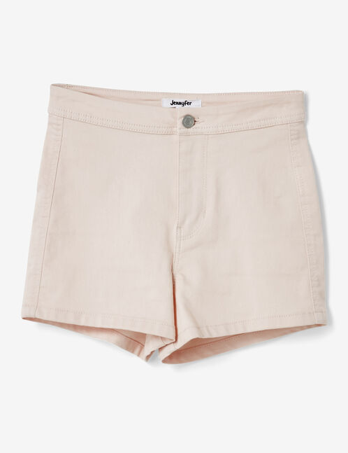 Nude high-waisted shorts